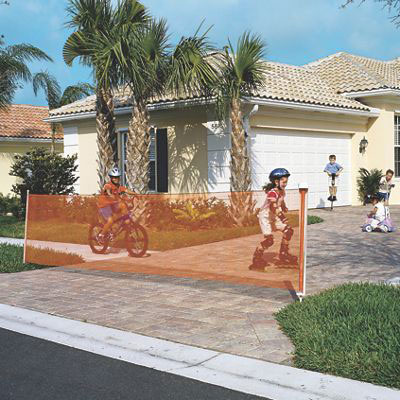 Adjustableup to 25 Orange Kidkusion Inc Retractable Driveway Guard